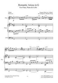 Romantic Arioso in G - Flute, Piano & Cello (Romantic Version)