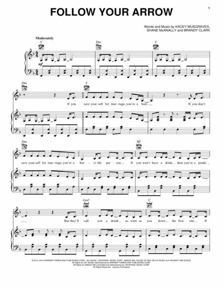 Download Follow Your Arrow Sheet Music By Kacey Musgraves Sheet