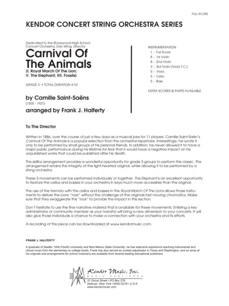 Carnival of the Animals - Full Score