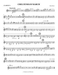 CHELTENHAM MARCH (concert band - medium easy - score, parts, and license to photocopy)