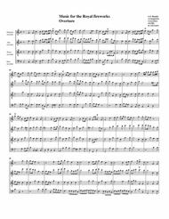 Overture to Music for the Royal fireworks (arrangement for 4 recorders)