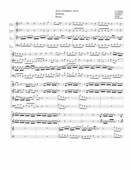 Sinfonia for Acis e Galathea