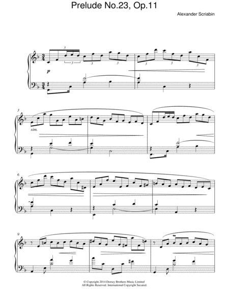Prelude No. 23, Op.11