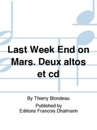 Last Week End on Mars. Deux altos et cd