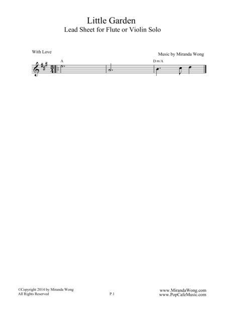 Little Garden - Easy Flute or Violin Solo