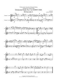 Bach: 5 Movements from Orchestral Suites 2 & 3 - clarinet duet