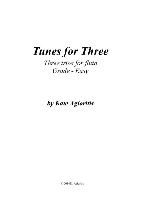 Tunes for Three - Three Easy Trios for Flute - Book 1