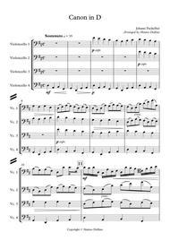 Canon in D (Cello Quartet)
