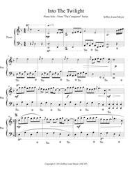 Into The Twilight - Piano Solo