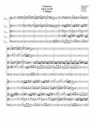Concerto grosso, Op.3, no.10 (arrangement for 5 recorders)
