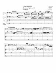Concerto grosso, Op.3, no.11 (arrangement for 4 recorders)