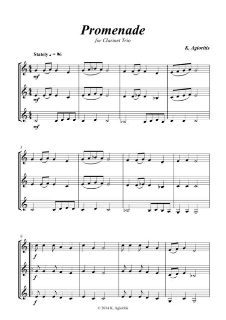 Promenade - for Young Clarinet Trio