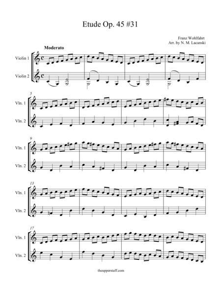 Etude Op. 45 #31