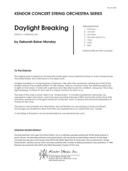 Daylight Breaking - Full Score