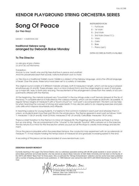 Song Of Peace (Lo Yisa Goy) - Full Score