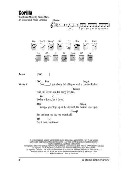 Preview Gorilla By Bruno Mars (HX.286473) - Sheet Music Plus