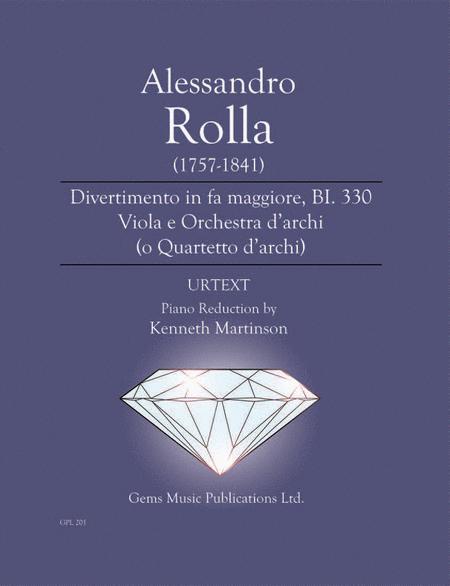 Divertimento in fa maggiore, BI. 330 Viola e Orchestra d'archi