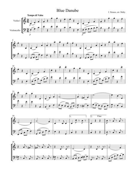 2 Strauss Waltzes for Violin & Cello Duet