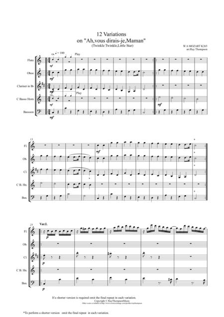 Mozart: 12 Variations on