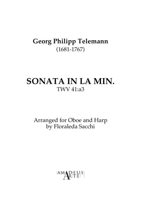 Oboe Sonata in A minor