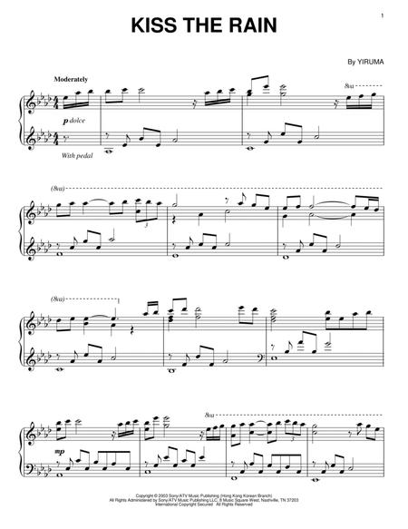Download Kiss The Rain Sheet Music By Yiruma - Sheet Music Plus