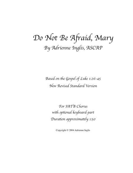 Do Not Be Afraid, Mary