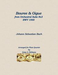 Bouree and Gigue from Orchestral Suite No3 BWV1068 for Flute Quartet