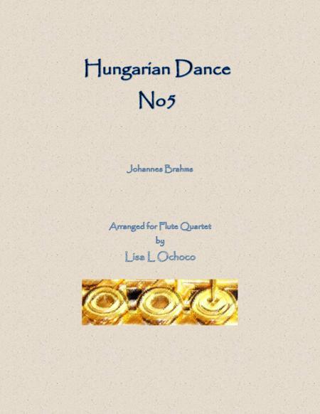 Hungarian Dance No5 for Flute Quartet