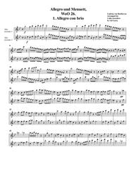 Allegro & Minuet, WoO 26 (version for 2 alto recorders)