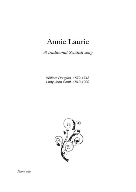 Annie Laurie fantasie for Piano solo