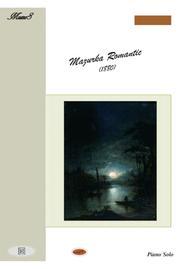 Mazurka Romantic 19th century for easy piano solo