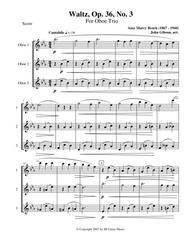 Waltz by Amy Beach set for Oboe Trio