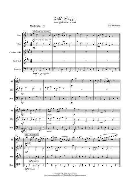 Dick's Maggot -  wind quintet