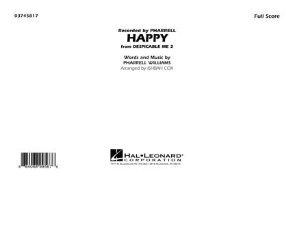 Happy (from Despicable Me 2) - Conductor Score (Full Score)