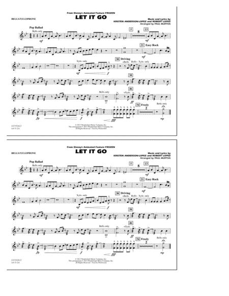 Download Let It Go Bellsxylophone Sheet Music By Idina Menzel