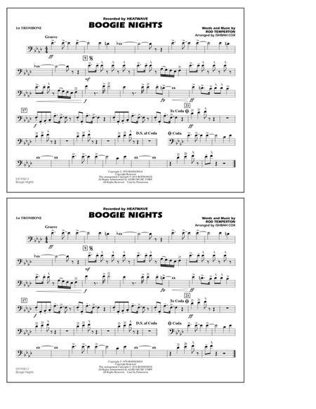 Boogie Nights - 1st Trombone