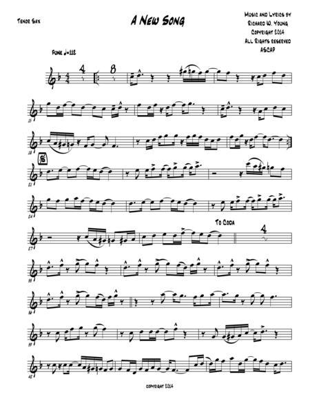 A New Song- Tenor Sax