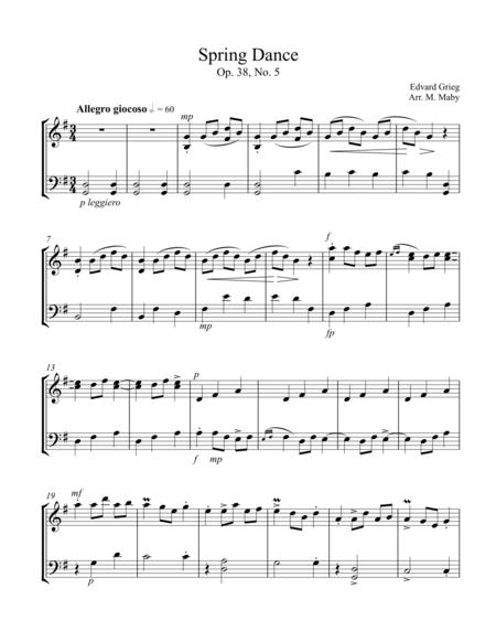 3 Duets by Grieg, for violin & cello