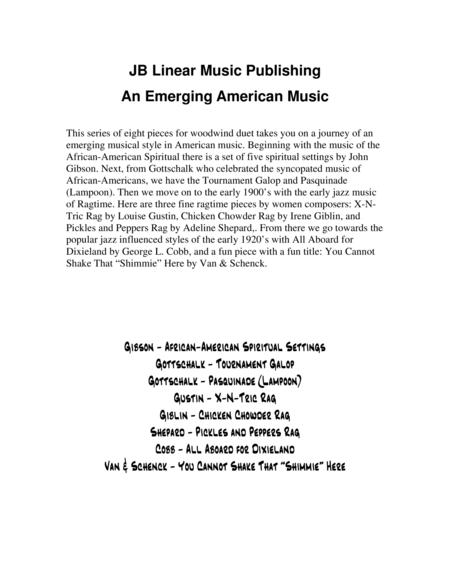 An Emerging American Music for sax duet