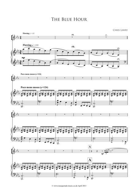 The Blue Hour (for intermediate - advanced flute, & Piano)