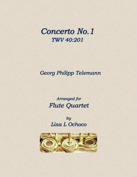 Concerto No1 TWV 40:201 for Flute Quartet