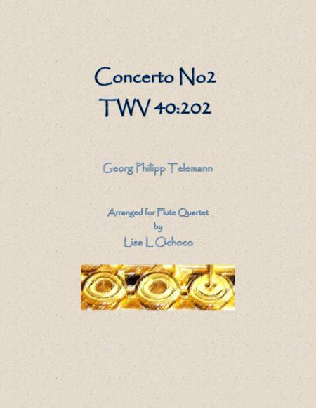 Concerto No2 TWV 40:202 for Flute Quartet