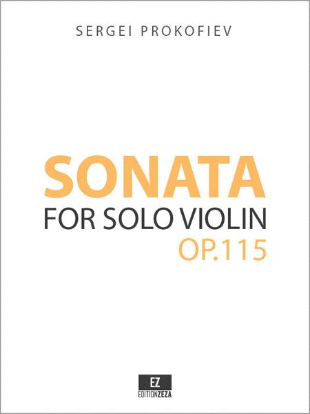 Sonata for Solo Violin Op.115