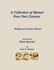 A Collection of Mozart Four Part Canons for Flute Quartet
