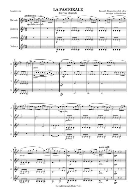 La Pastorale for Four Clarinets