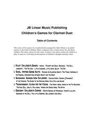 Children's Games Book for Clarinet Duet
