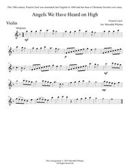 Christmas Duets for Violin & Piano:  Angels We Have Heard on High