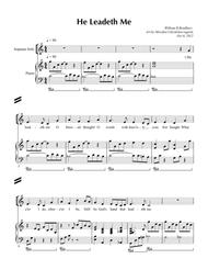 Download He Leadeth Me Sheet Music By William B  Bradbury