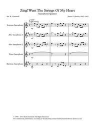 Zing! Went The Strings Of My Heart - Saxophone Quintet