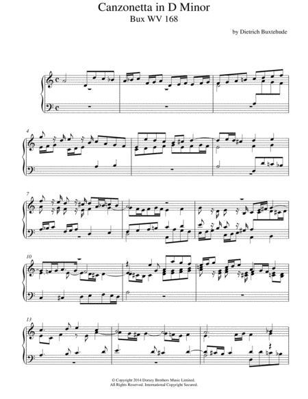 Canzonetta In D Minor Buxwv168